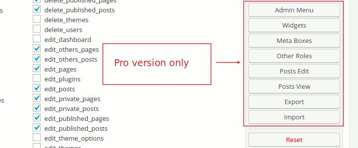 User Role Editor Pro v4.60.2 - Editing WordPress User Roles